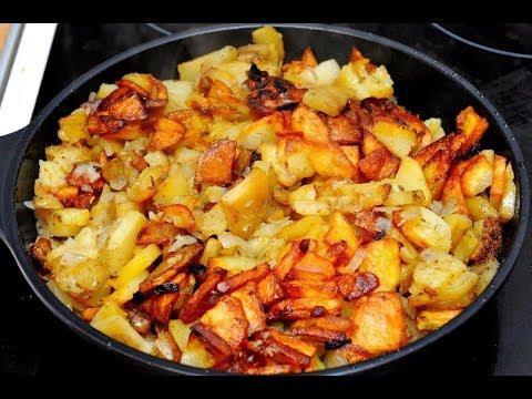 картошка жареная с капустой и луком
