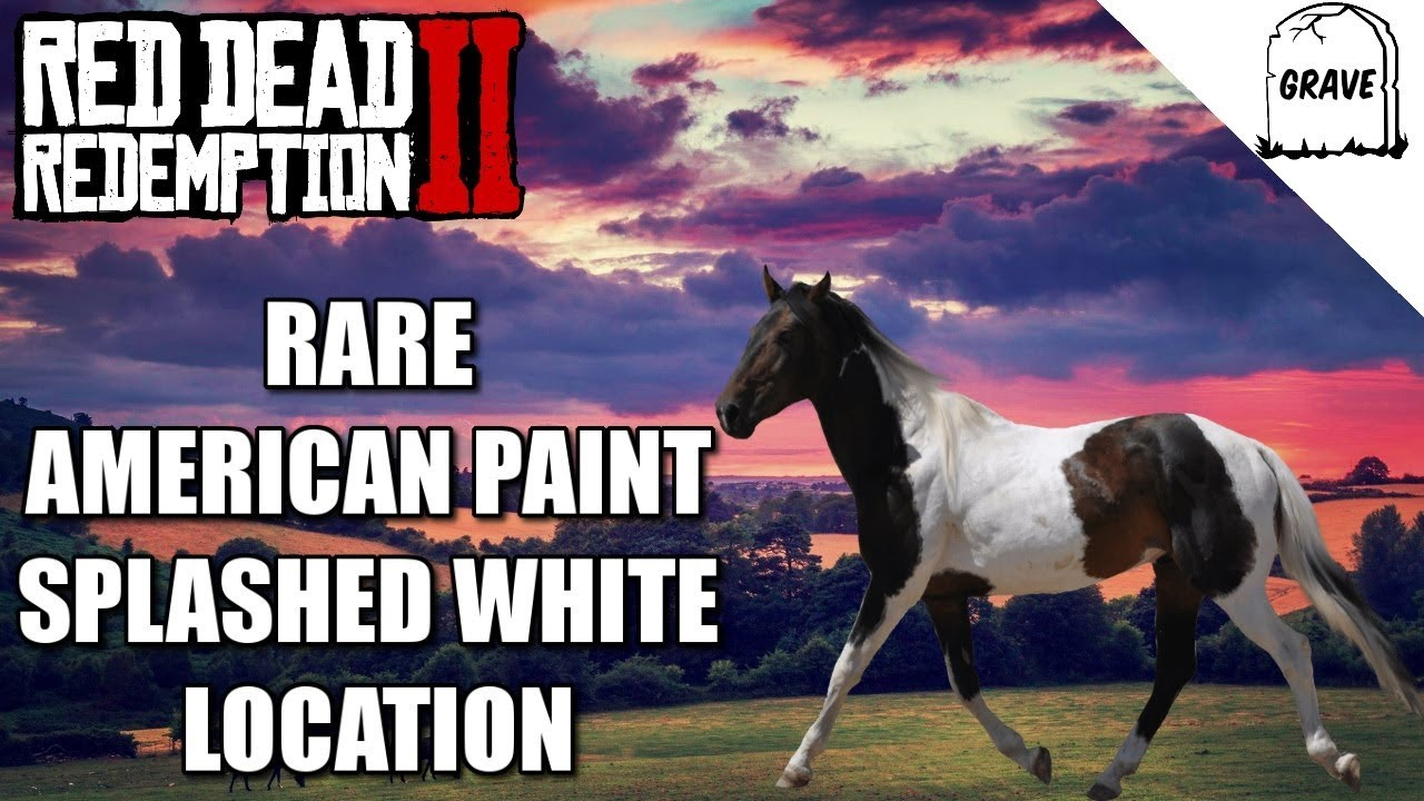 rare american paint splashed white location red dead redemption 2