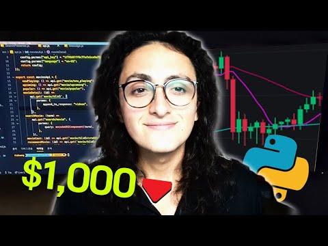 트레이딩 봇을 만들고 100만원을 넣었다.