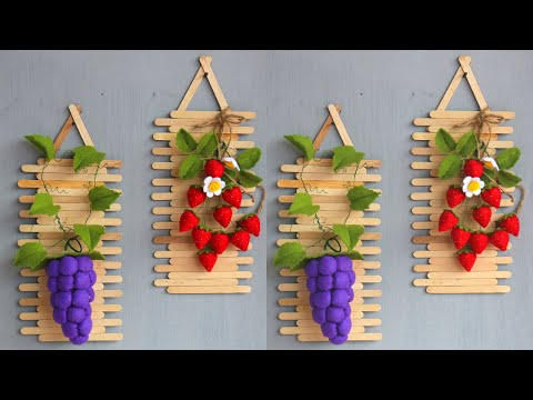 Popsicle stick crafts ideas | ice cream sticks crafts ideas | Hiasan dinding dari stik es krim