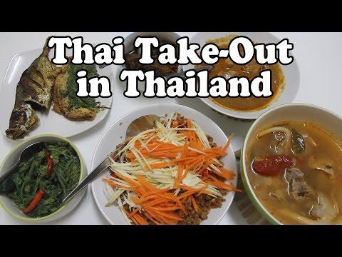 How to Eat Cheap in Thailand. Thai Take-Out Food. Street Food from a Night Market in Thailand Vlog