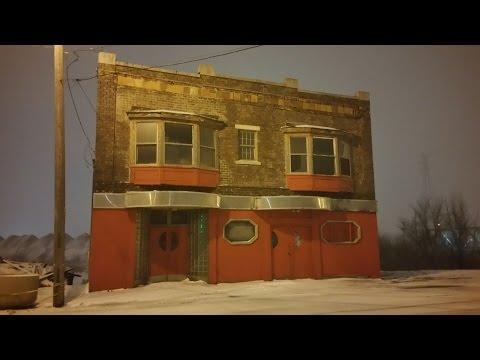 Delray (Detroit) Michigan On A Snowy Night