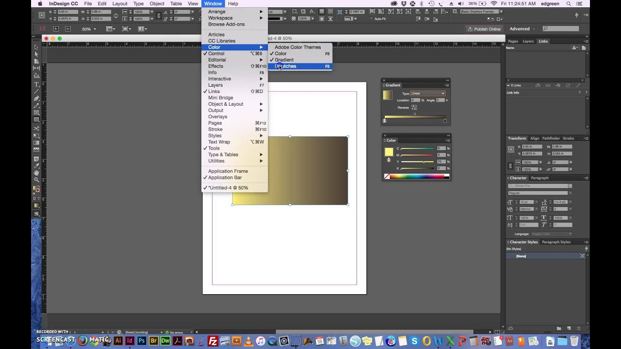How To Change Background Colour In Indesign Cc