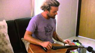 Xavier Rudd - Love Comes and Goes - Backstage at Hangout Music Fest 2011
