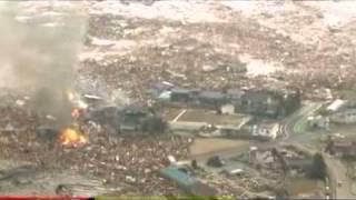 Japan 8.9 Earthquake Tsunami near Honshu, Japan