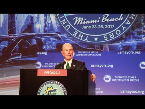 Mike Bloomberg Announces the American Cities Initiative at the U.S. Conference of Mayors