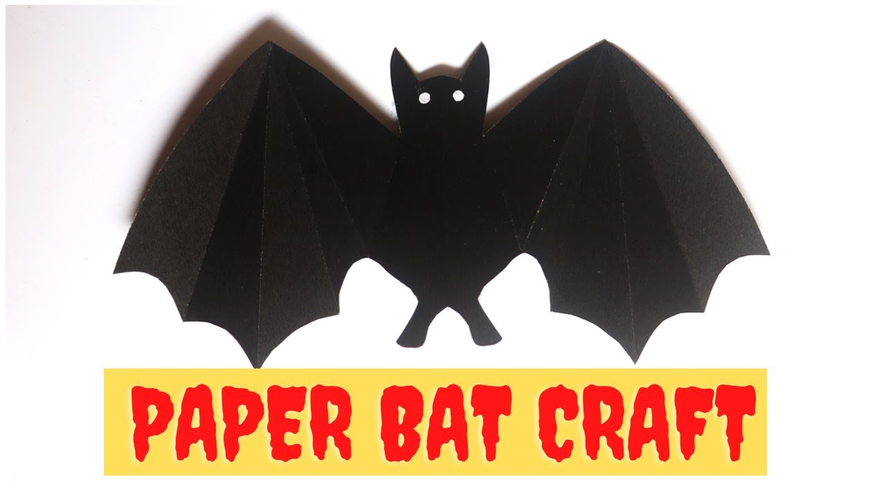 EASY Paper Bat Craft for Halloween Decorations
