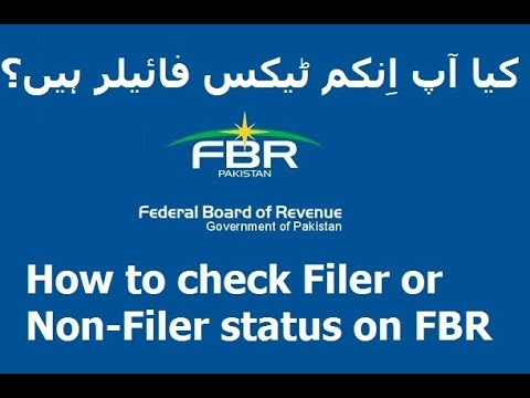 How to check Filer and Non-Filer status on FBR