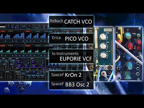ReBach CATCH VCO-A, Erica PICO VCO, Io Inst. EUPORIE VCF, SpaceF KrOn 2 (Live & Direct,  HD audio)