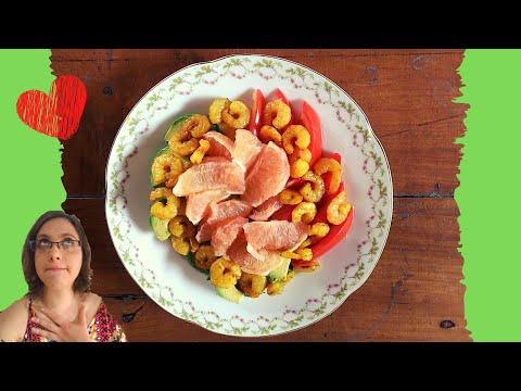 😍❤️🥑recette-salade-avocat-crevettes-agrume-😍❤️🥑