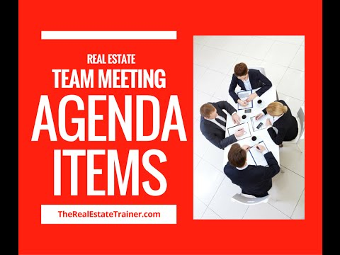 Real Estate Team Meeting Agenda Items