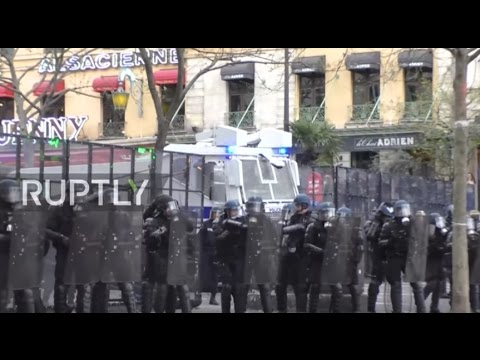 France: Police tear gas police brutality protesters in Paris