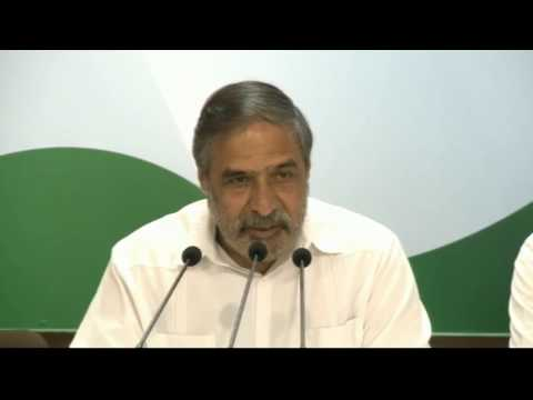 AICC Press Briefing by Anand Sharma at Congress HQ, February 20, 2017