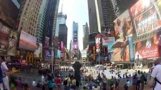 Walking through the Streets of New York City - GoPro HD Hero2