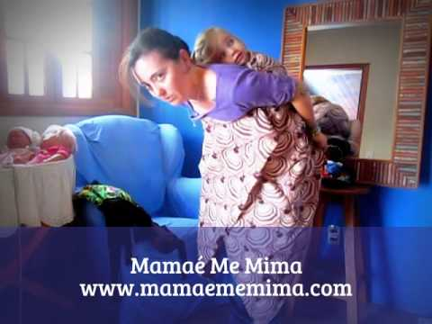 Como carregar um bebê com uma canga / kanga africana