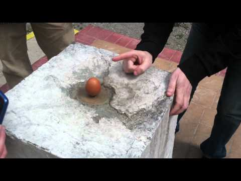 An egg stands straight up at the equator?