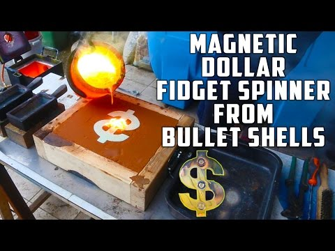 Casting Brass Dollar Fidget Spinner from Bullet Shells