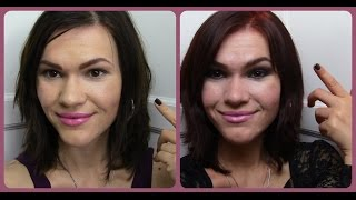 видео Омбре | красные оттенки на тёмных волосах