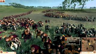 Total War: Rome II - Suebi vs Rome Gameplay - River Crossing Battle by DiplexHeated