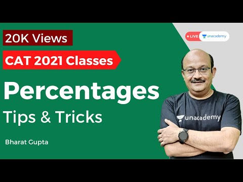 Percentage Tips and Tricks for CAT 2020 by Bharat Gupta