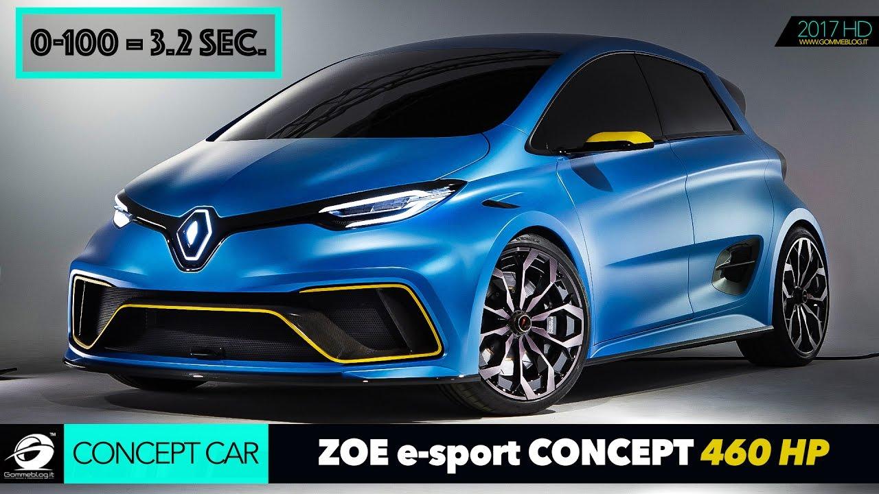 extreme renault zoe e sport concept 460 hp 2 engine 0 100 3 2 sec car acceleration. Black Bedroom Furniture Sets. Home Design Ideas