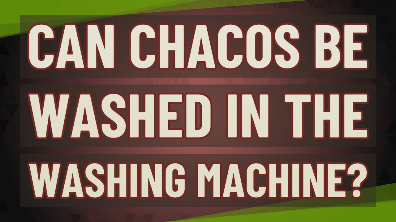 chacos in washing machine