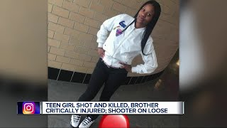 14-year-old girl killed, brother injured in Detroit shooting