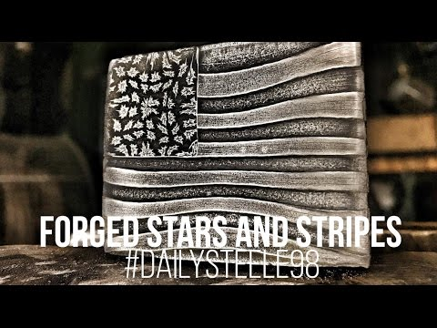 MAKING USA FLAG DAMASCUS STEEL!!!