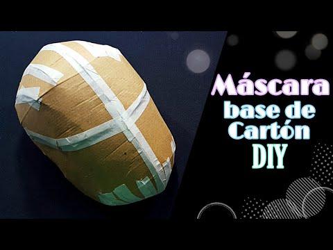 DIY- Máscara Base Hecha De Cartón ||Plantilla Gratis Para Descargar||