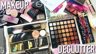 RUTHLESS DECLUTTER OF MY MOST USED MAKEUP! (everything must go)