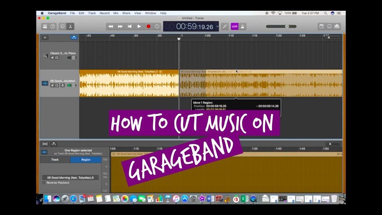 HOW TO CUT MUSIC ON GARAGEBAND 2018 | Version 10 2 0