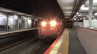 【JR西日本】2018/10/14 05:15頃 JR小倉駅 DD51-1191+チキ 通過