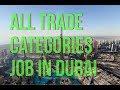 Job in Dubai for All trade categories job ,salary 1000 dirams to 1500 dirams.