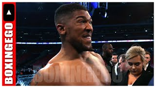 ANTHONY JOSHUA WORKING DAZN CANELO FIGHT AFTER NOT GOING TO WILDER-FURY | BOXINGEGO