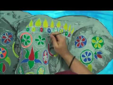 Art Lesson How To Paint An Elephant Using Acrylic Paint