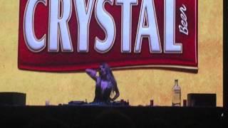 DJ Larissa Lahw ao vivo no Backstage Golden Mix (Villa Mix Festival)