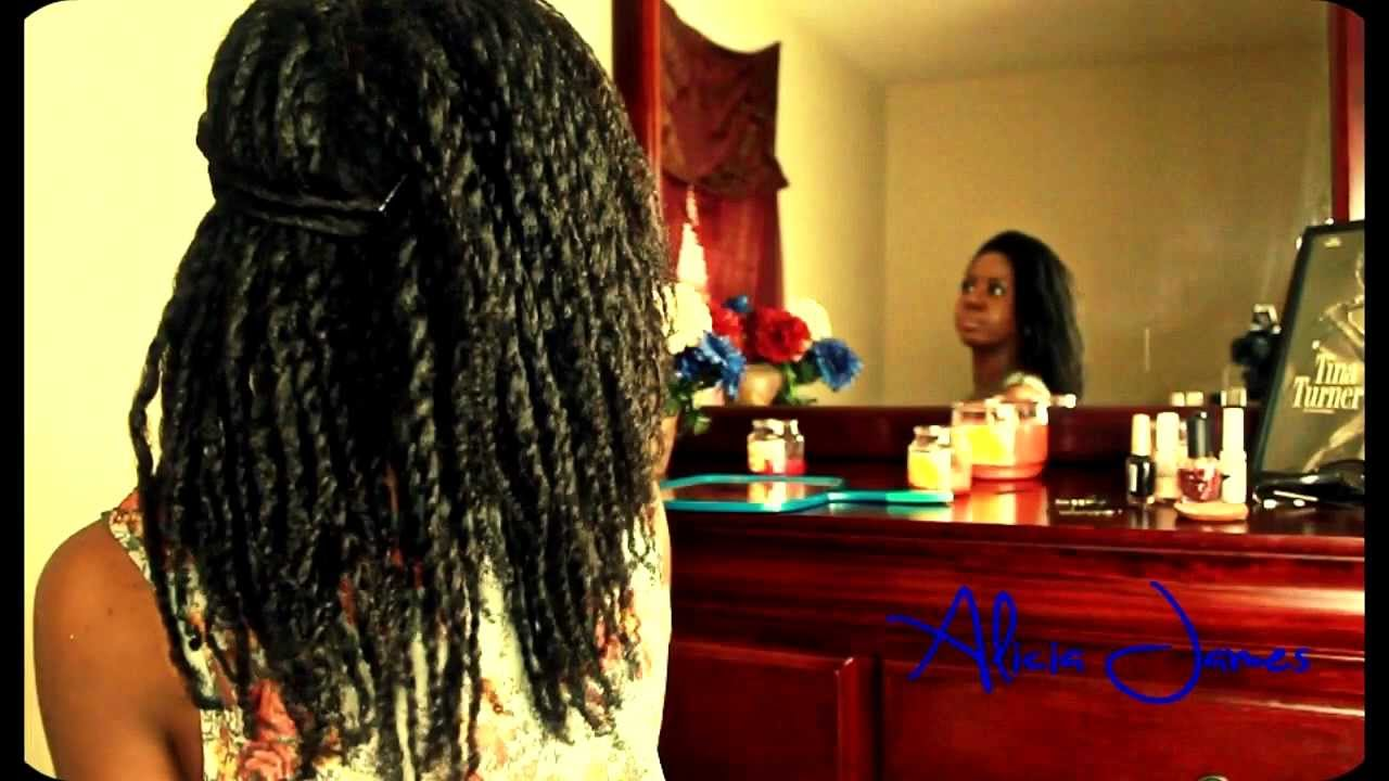 Simple Twist Hairstyle On Natural Hair  Two Strand Twist