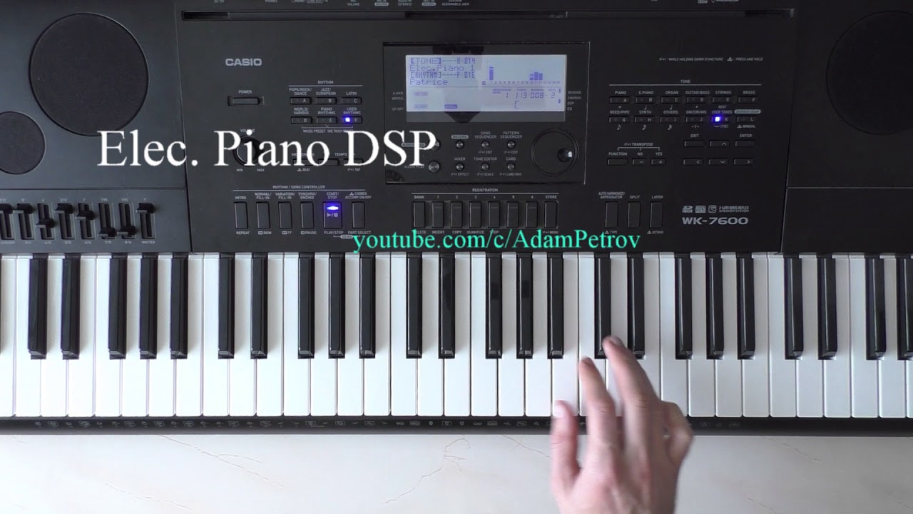 patrice rushen forget me nots piano tutorial cover casio wk 7600 youtube. Black Bedroom Furniture Sets. Home Design Ideas