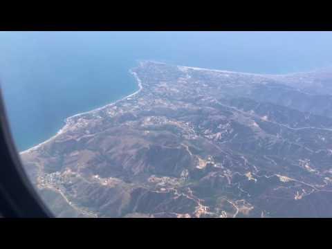 Approach into LAX Malibu and Pacific coastline