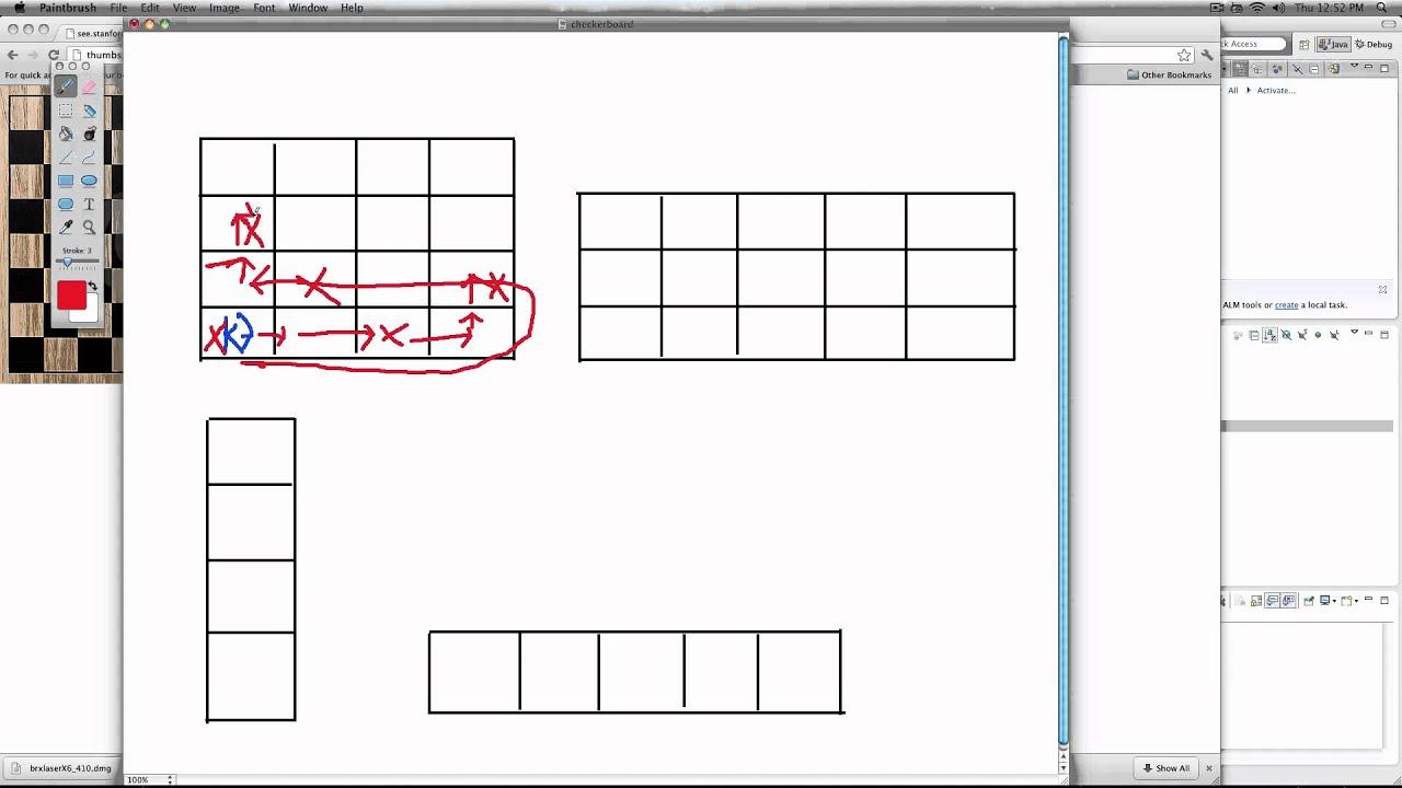 cs106a - Assignment 1 : Question 3 - Checkerboard Karel