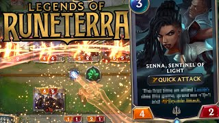 League of Legends but it's their new card game Legends of Runeterra