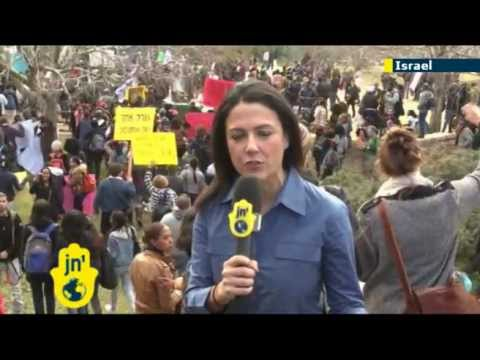 Ethiopians stage protest in Jerusalem against racism at Knesset and Zion Square, Tzipi Livni speaks