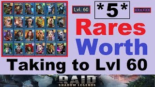 *5* RARES Worth ~6 Starring~ & Leveling to 60 in Raid Shadow Legends
