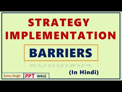 STRATEGY IMPLEMENTATION IN HINDI | BARRIERS | CONCEPT