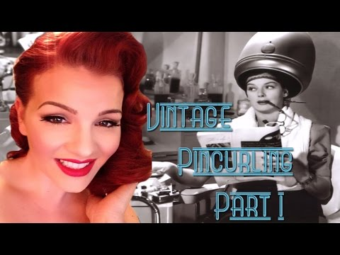 Pincurl wet set tutorial Part 1 by Loula Belle