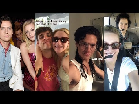 Cole Sprouse and Lili Reinhart Instagram Stories / July-Sep 2018