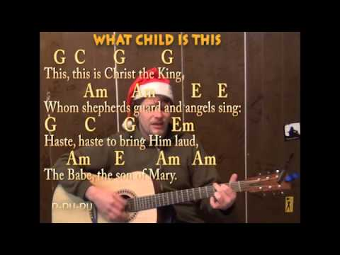Mandolin mandolin chords what child is this : What Child Is This (Christmas) Strum Guitar Cover Lesson with ...