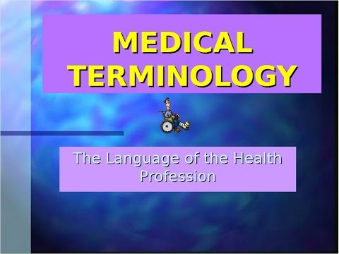 the language of the health profession - part 1