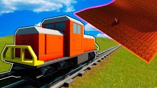 We Try to Stop the Train with Tsunamis in Brick Rigs Multiplayer Gameplay