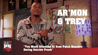 Ar'mon & Trey - Too Much Attention At Sour Patch Mansion During Suicide Prank (247HH Exclusive)